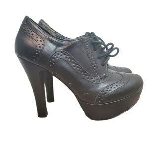 Mix N0. 6 black heeled lace up boots cottage core